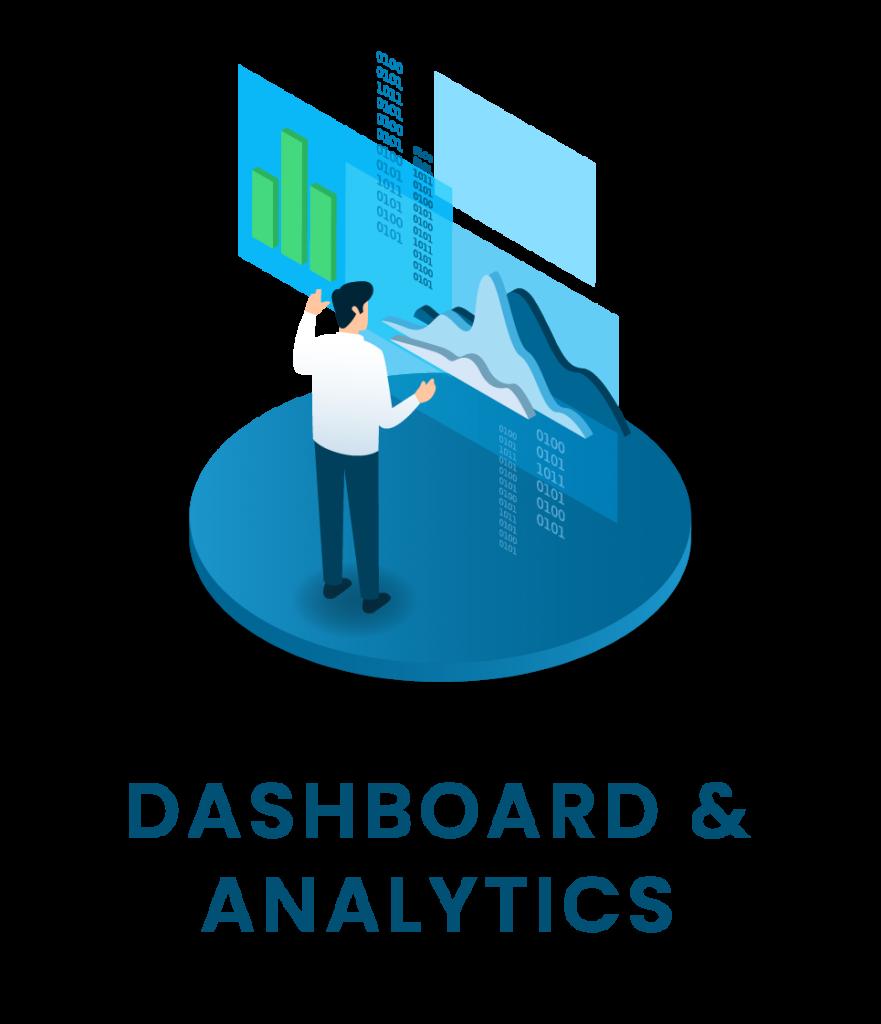 pulsante per accedere all'area dedicata alle Soluzioni Software che presentano Dashboard e Analytics smart metering